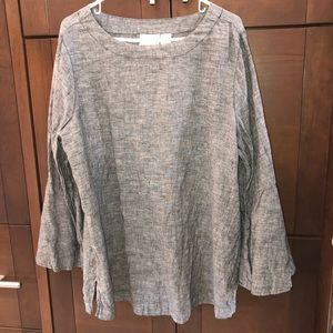 WORN ONCE! Bell sleeve top